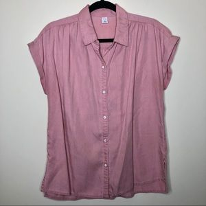 Old Navy Button Down Rolled Cuff Top